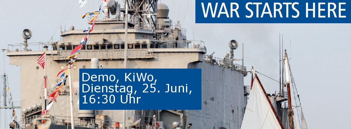 War Starts Here Demo-Flyer